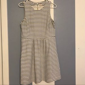 J Crew navy & white striped dress